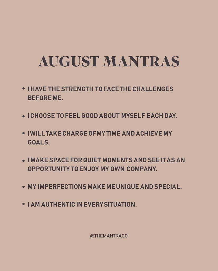 August Monthly Mantra Icon