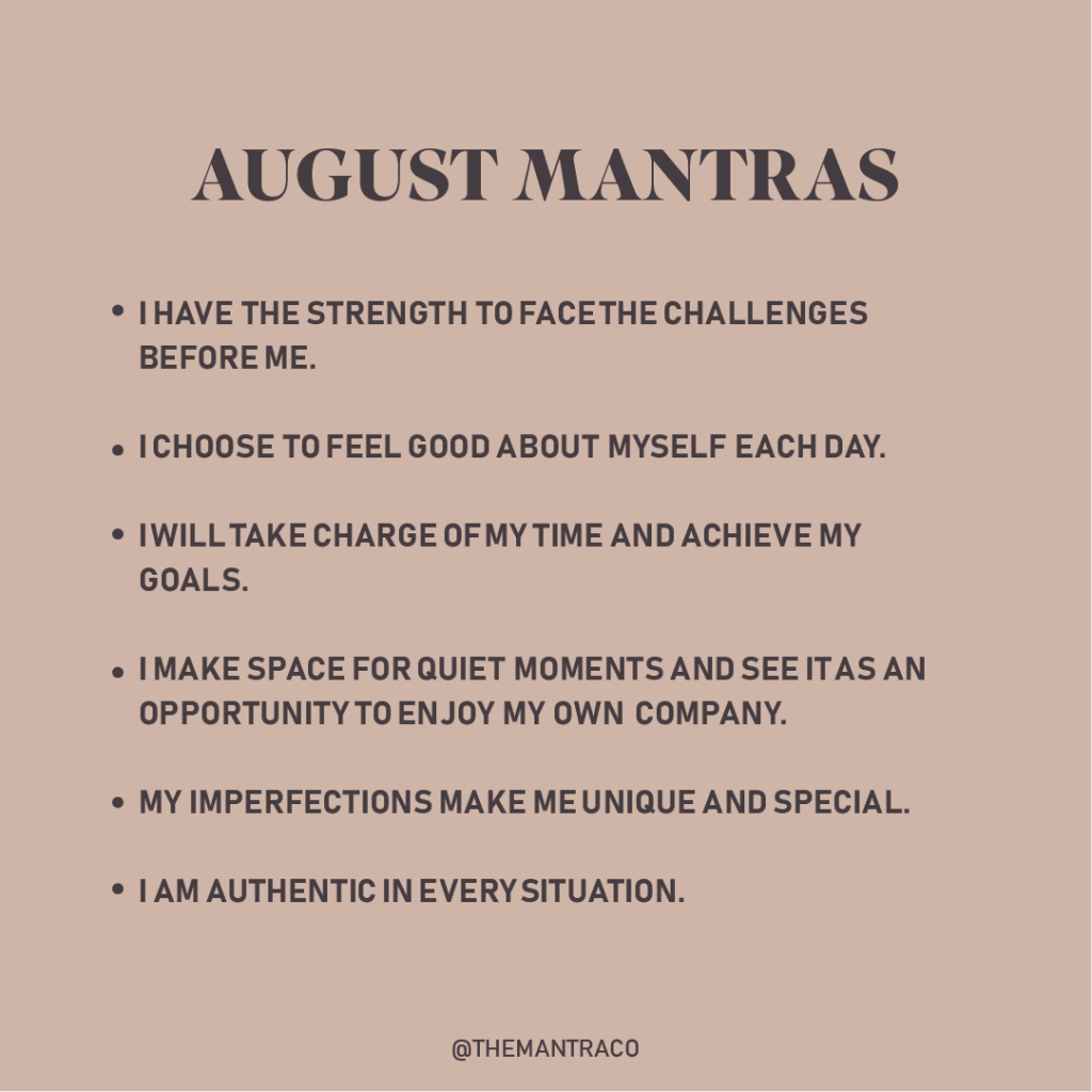August 2021 Mantras