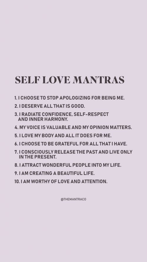 10 self love mantras @themantraco